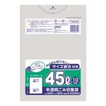 ジャパックス TSN45 容量表示入りポリ袋 45L 10枚入×60パック
