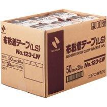 ニチバン 123LW-50 布粘着テープ 50mm×25m 30巻入