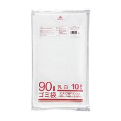 クラフトマン HK-086 半透明 厚手ゴミ袋 90L 10枚