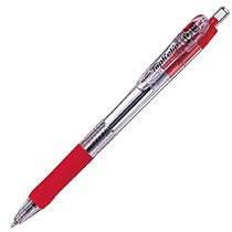 ゼブラ BN5-R ノック式油性ボールペン タプリクリップ 0.7mm 赤