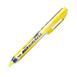 ペンテル SXNS15-G ノック式蛍光ペン ハンディラインS イエロー