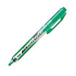ペンテル SXNS15-K ノック式蛍光ペン ハンディラインS ライトグリーン