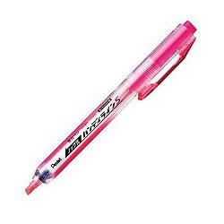 ペンテル SXNS15-P ノック式蛍光ペン ハンディラインS ピンク