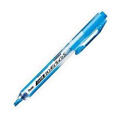 ペンテル SXNS15-S ノック式蛍光ペン ハンディラインS スカイブルー