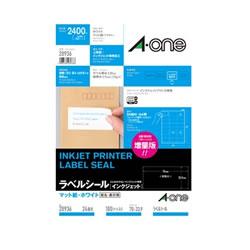 エーワン 28936 インクジェットプリンタラベル A4判24面