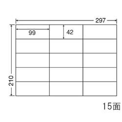 ナナ C15G シートカットラベル(マルチタイプ) A4 15面