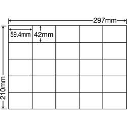 ナナ C25M シートカットラベル(マルチタイプ)