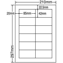ナナ LDW12Pi シートカットラベル(ページプリンタ用ラベル)