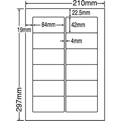 ナナ LDW12PO シートカットラベル(ページプリンタ用ラベル)