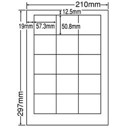 ナナ LDW15M シートカットラベル(ページプリンタ用ラベル)