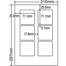 ナナ LDW6G シートカットラベル(ページプリンタ用ラベル)
