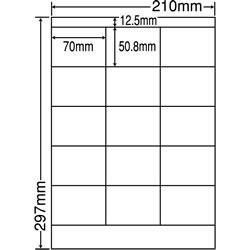 ナナ LDZ15MF シートカットラベル(ページプリンタ用ラベル)