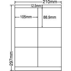 ナナ LDZ6G シートカットラベル(ページプリンタ用ラベル)
