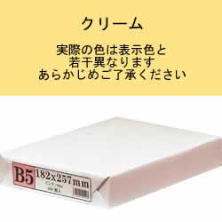 APP カラーPPC用紙 B5 クリーム