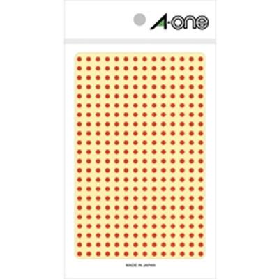 エーワン 07681 カラーラベル 丸型 赤 3mm