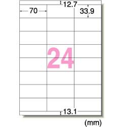 エーワン 28366 レーザープリンタラベル A4判24面