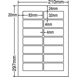 ナナ LDW14QG シートカットラベル(ページプリンタ用ラベル)