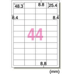 エーワン 28648 レーザープリンタラベル A4判 44面