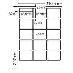 ナナ SCL-3 カラーレーザープリンタ用光沢ラベル