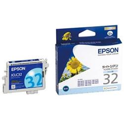 EPSON ICLC32 インクカートリッジ ライトシアン 純正