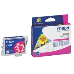 EPSON ICM32 インクカートリッジ マゼンタ 純正