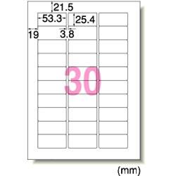 エーワン 31146 レーザープリンタラベル A4判30面四辺余白付