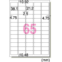 エーワン 29243 インクジェット用光沢紙ラベル A4判