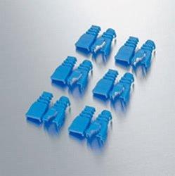 ELECOM LD-ABBU6 コネクタ保護カバー ブルー