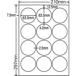 ナナ SCL-6 カラーレーザープリンタ用光沢ラベル