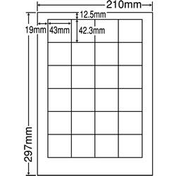 ナナ LDW24P シートカットラベル(マルチタイプ)