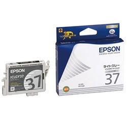 EPSON ICLGY37 インクカートリッジ ライトグレー 純正