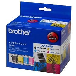 BROTHER LC10-4PK インクカートリッジ お徳用4色セット