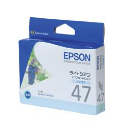 EPSON ICLC47 インクカートリッジ ライトシアン 純正
