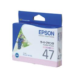 EPSON ICLM47 インクカートリッジ ライトマゼンタ 純正