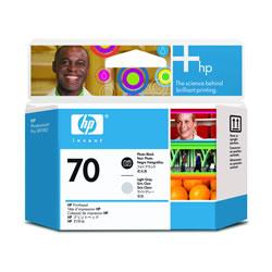 HP C9407A HP70 プリントヘッド フォトブラック/ライトグレー 純正