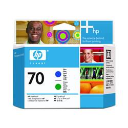 HP C9408A HP70 プリントヘッド ブルー/グリーン 純正