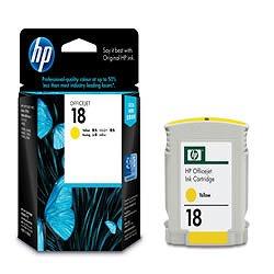 HP C4939A HP18 インクカートリッジ イエロー 純正