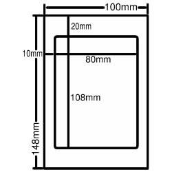 ナナ CLH-6 レーザープリンタ用ラベル ハガキサイズ