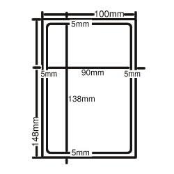 ナナ CLH-24 レーザープリンタ用ラベル ハガキサイズ