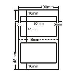 ナナ CLH-25 レーザープリンタ用ラベル ハガキサイズ