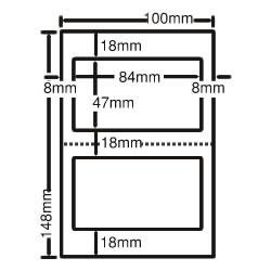ナナ CLH-27 レーザープリンタ用ラベル ハガキサイズ