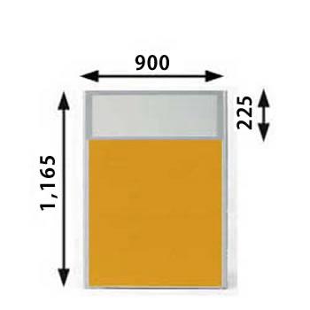 MP-1209U-OR パーティション 上部半透明 オレンジ