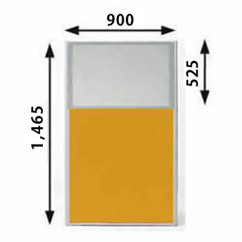 MP-1509U-OR パーティション 上部半透明 オレンジ