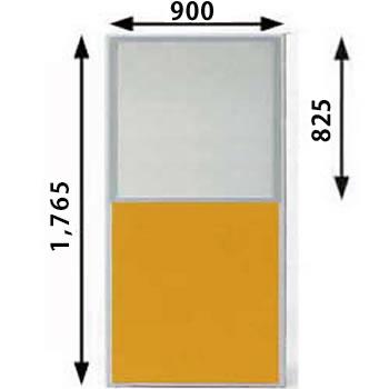 MP-1809U-OR パーティション 上部半透明 オレンジ