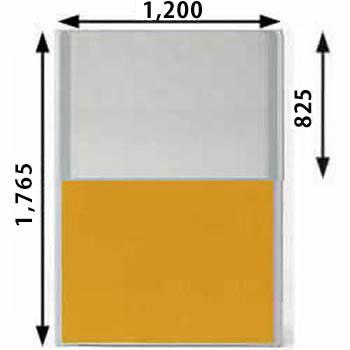 MP-1812U-OR パーティション 上部半透明 オレンジ