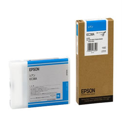 EPSON ICC38A インクカートリッジ シアン 純正