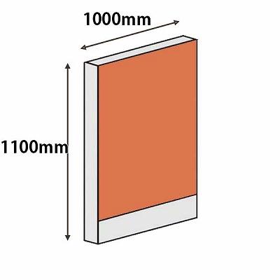 ローパーテーション LPXシリーズ 高さ1100mm 幅1000mm オレンジ