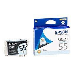 EPSON ICLC55 インクカートリッジ ライトシアン 純正