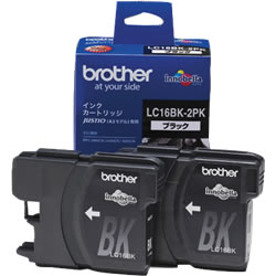 BROTHER LC16BK-2PK 大容量インクカートリッジ 黒2個パック
