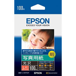 EPSON KL100PSKR 写真用紙<光沢> L判